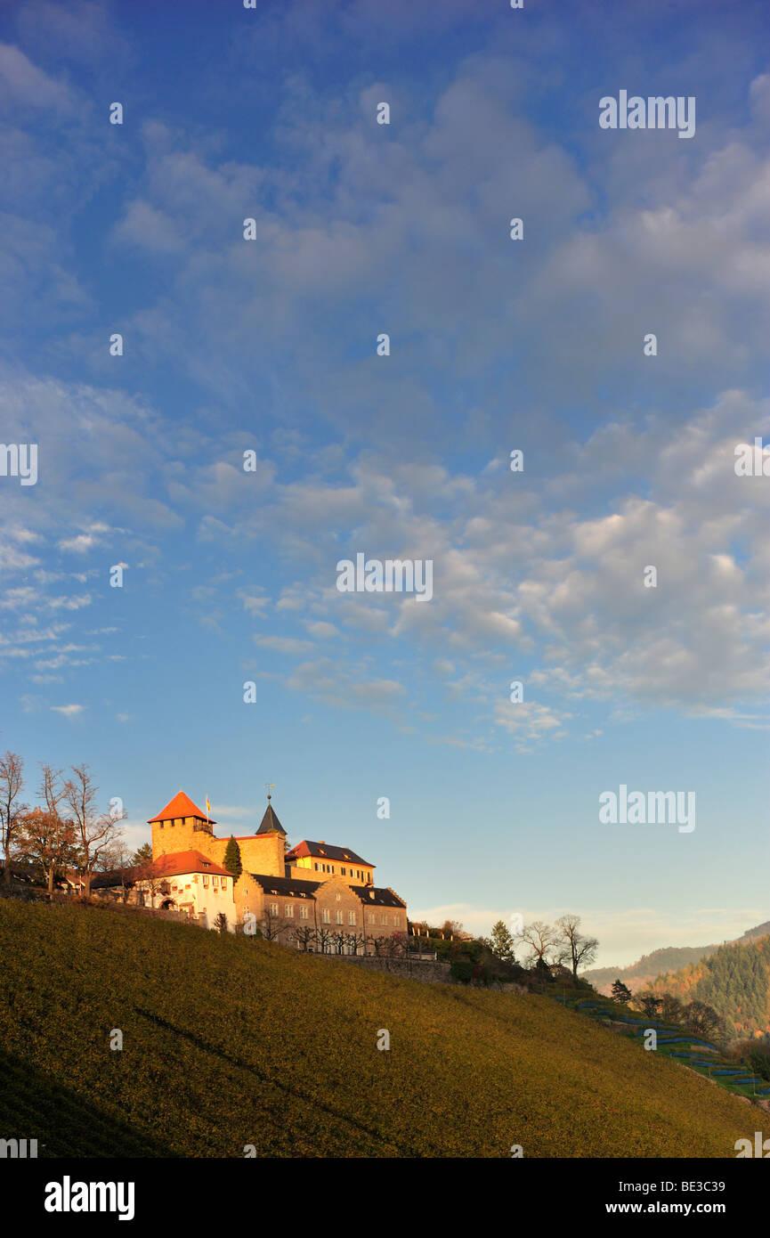 Eberstein Castle, Gernsbach Obertsrot, Black Forest, Baden-Wuerttemberg, Germany, Europe - Stock Image