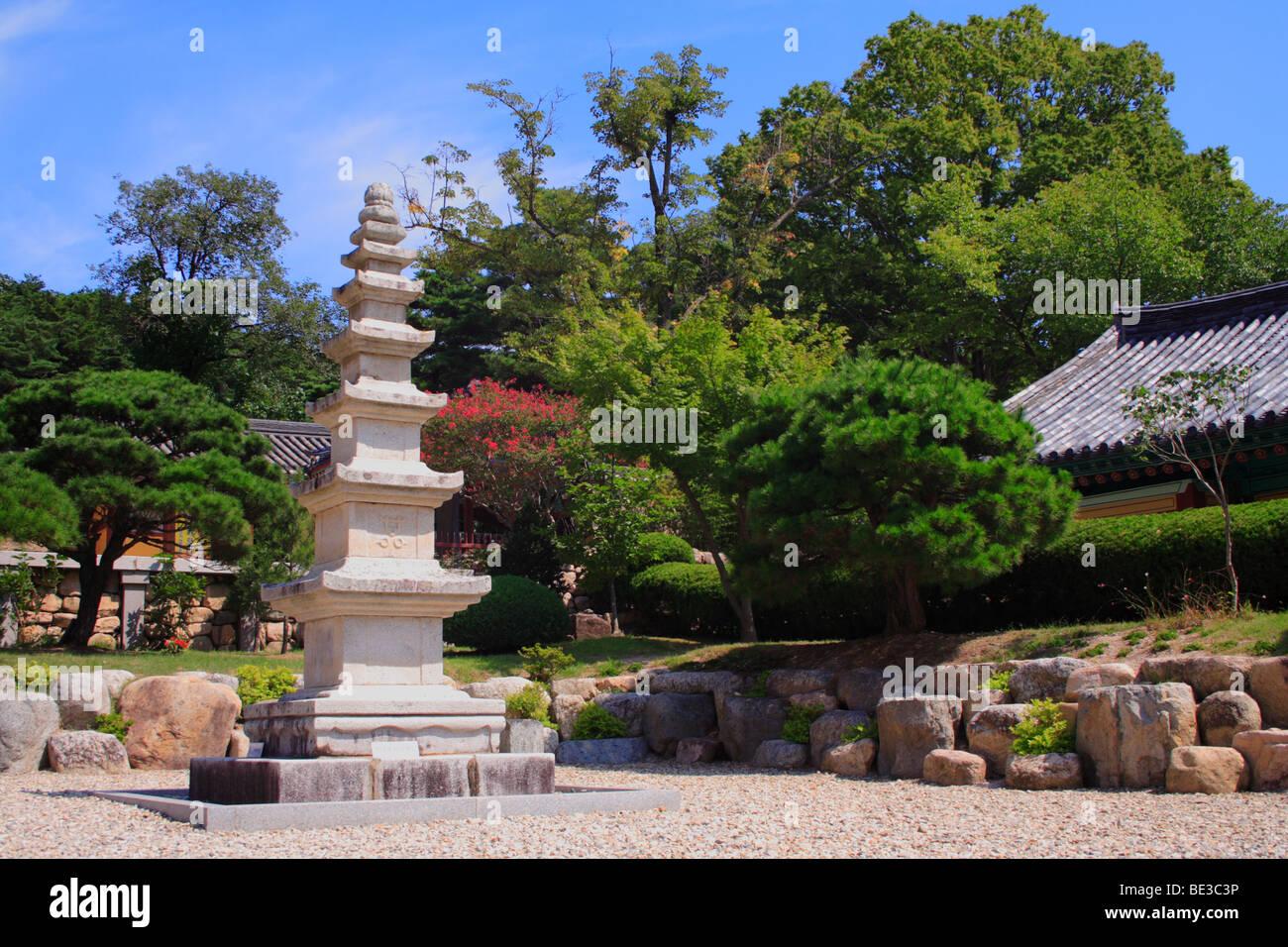 Pagoda, Bogyeongsa, Republic of Korea Stock Photo