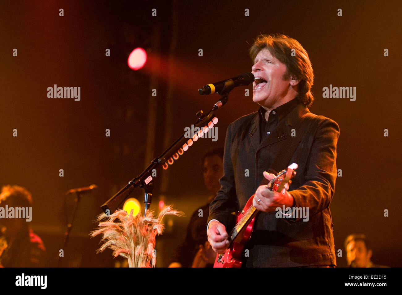 The U.S. singer and songwriter John Fogerty live at the Blue Balls Festival in the Luzernersaal hall of the KKL - Stock Image