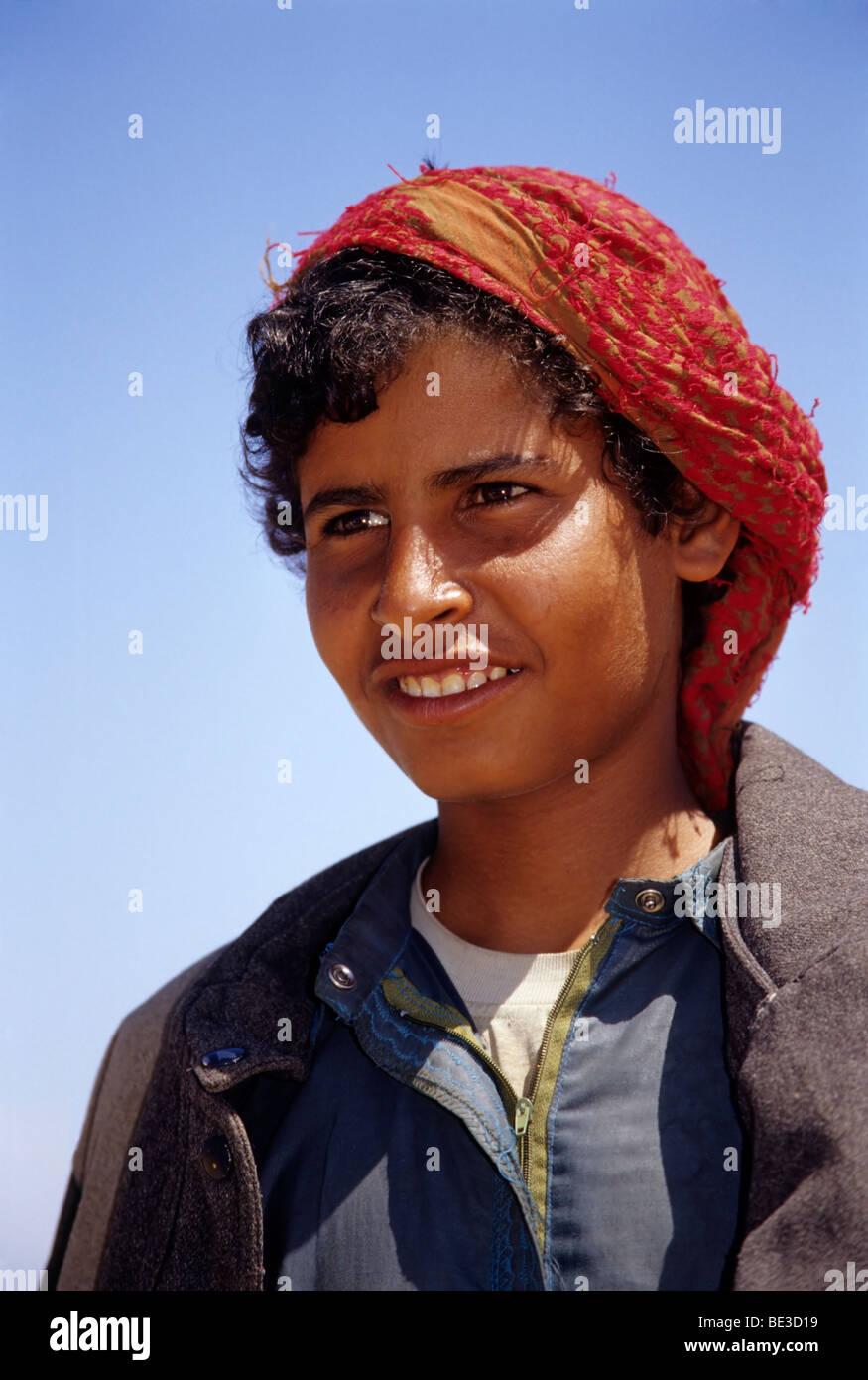 Camel shepherd, Egyptian in traditional dress, garment, portrait, Dschjellahba, Jelleba, clothes, Arabian, Egyptian, - Stock Image