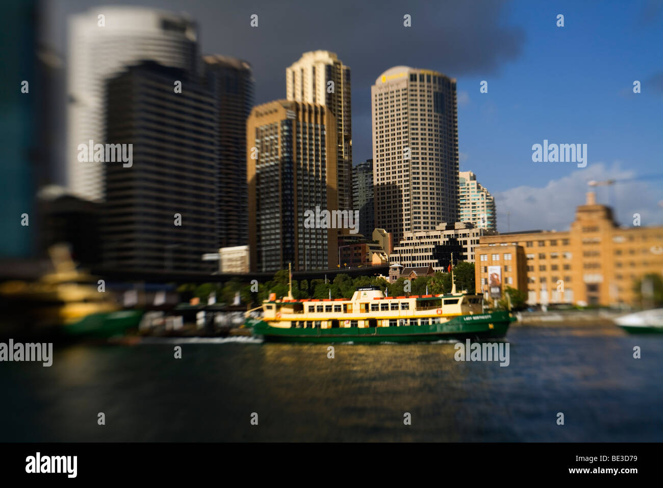A Sydney ferry leaves Circular Quay. Sydney, New South Wales, AUSTRALIA - Stock Image
