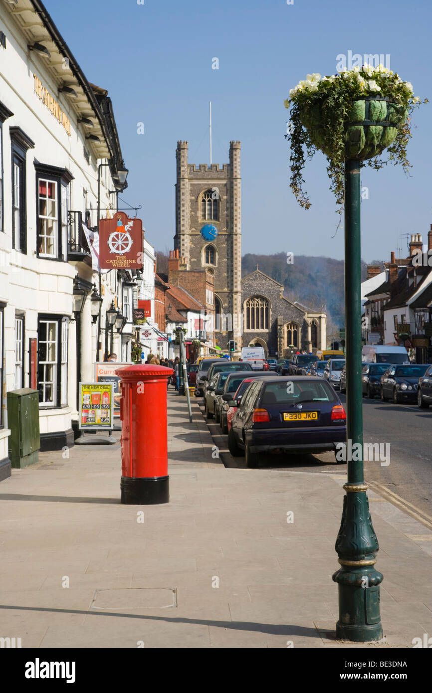 Hart Street with St Mary the Virgin Church, Henley-on-Thames, Oxfordshire, England, United Kingdom, Europe - Stock Image
