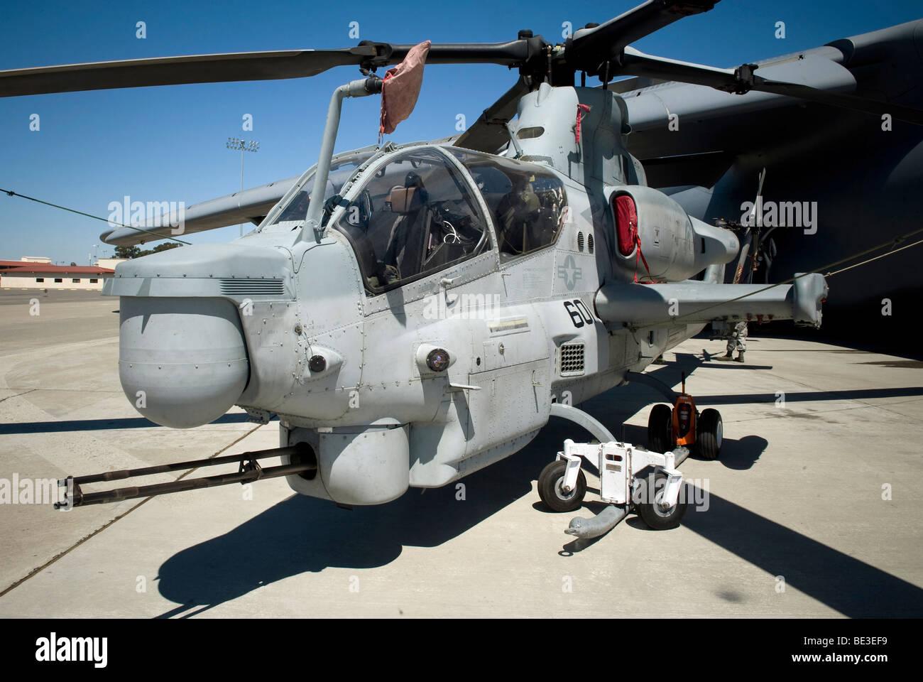 AH-1Z Super Cobra attack helicopter. - Stock Image