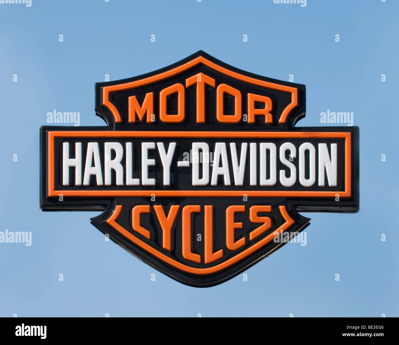 Logo Harley-Davidson motorcycles - Stock Image