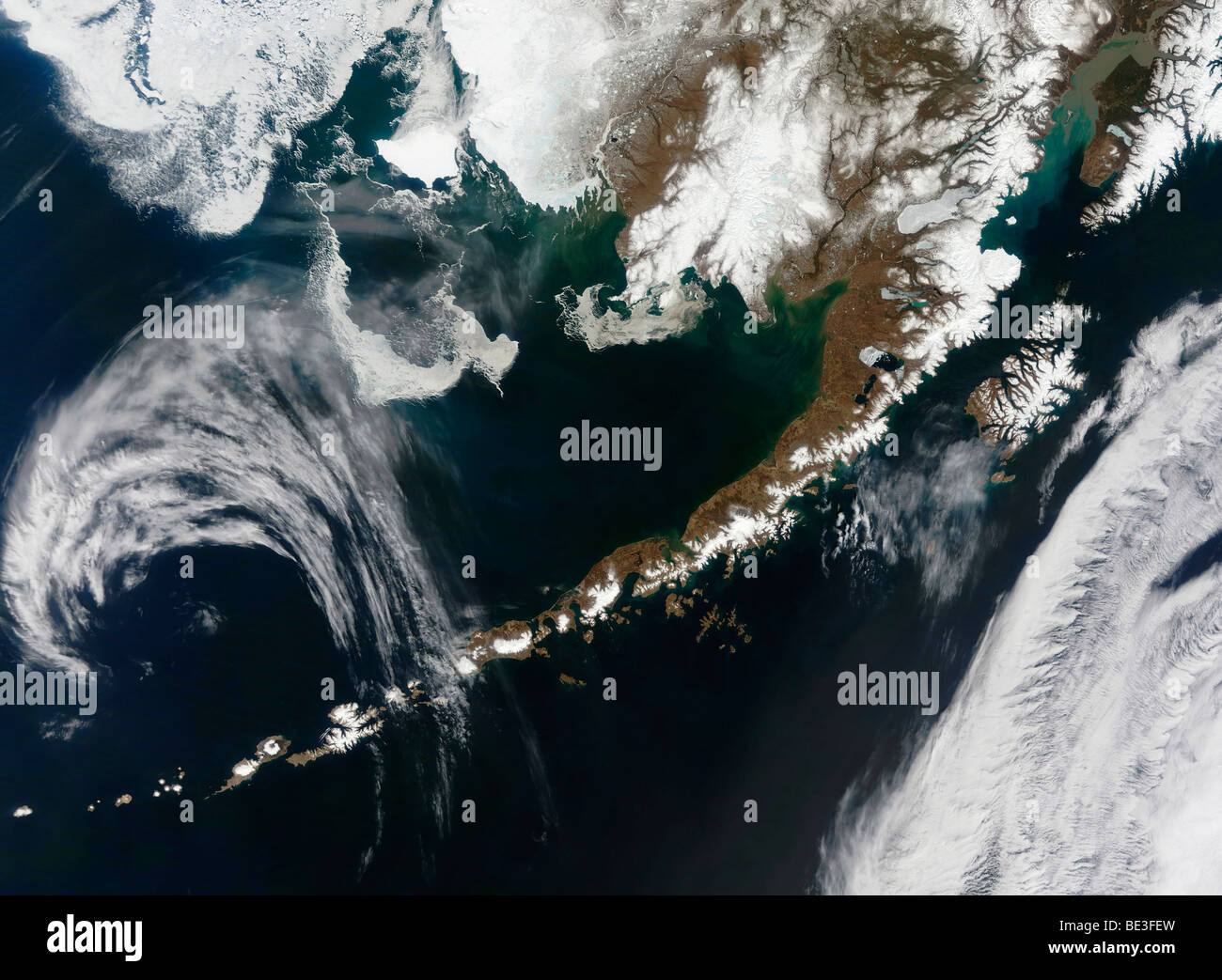 The Alaskan Peninsula and Aleutian Islands. - Stock Image