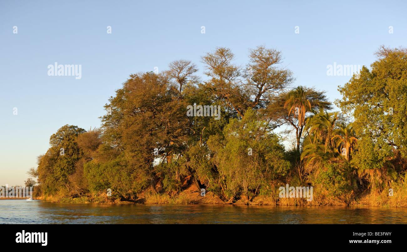 Okawango near the Mahango Safari Lodge, Namibia, Africa - Stock Image