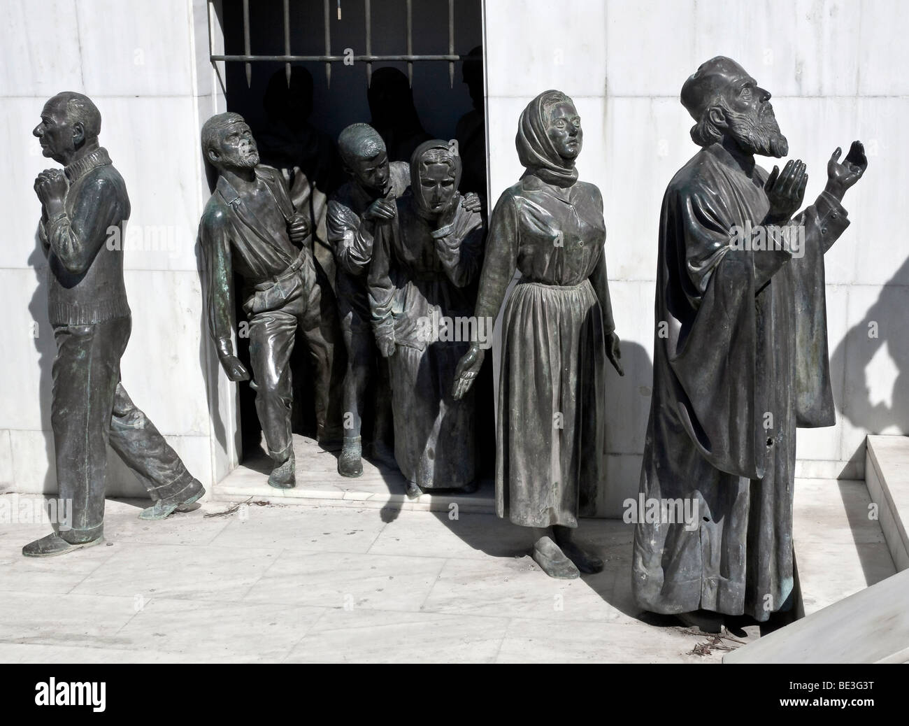 Freedom monument in the south of Nicosia, Lefkosia, Lefkosa, capital of Cyprus, Southern Cyprus, Europe - Stock Image
