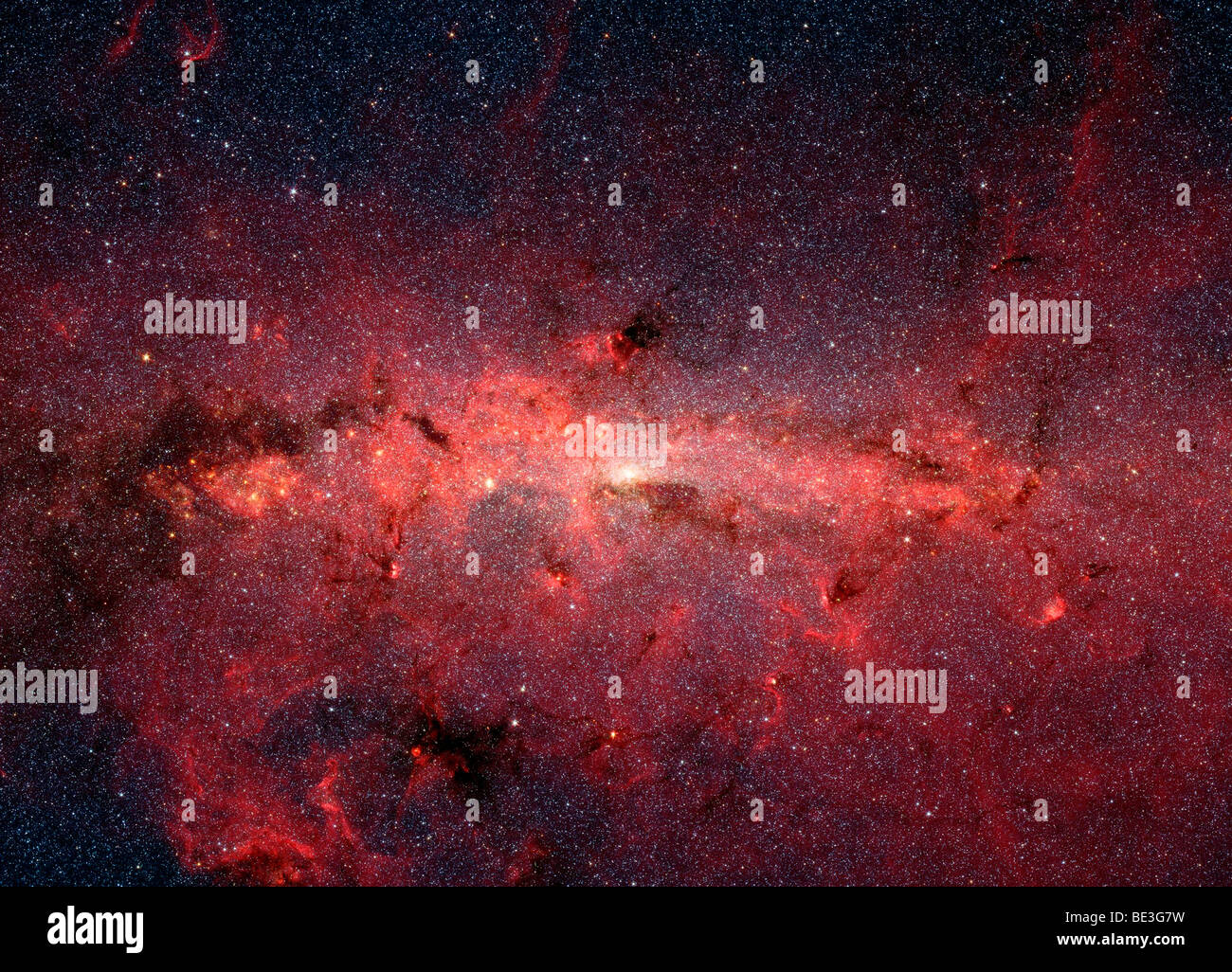 The center of the Milky Way Galaxy. - Stock Image