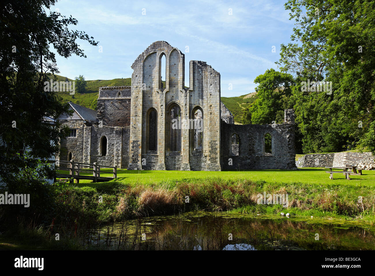 Valle Crucis Abbey, Llangollen, Wales, UK Stock Photo