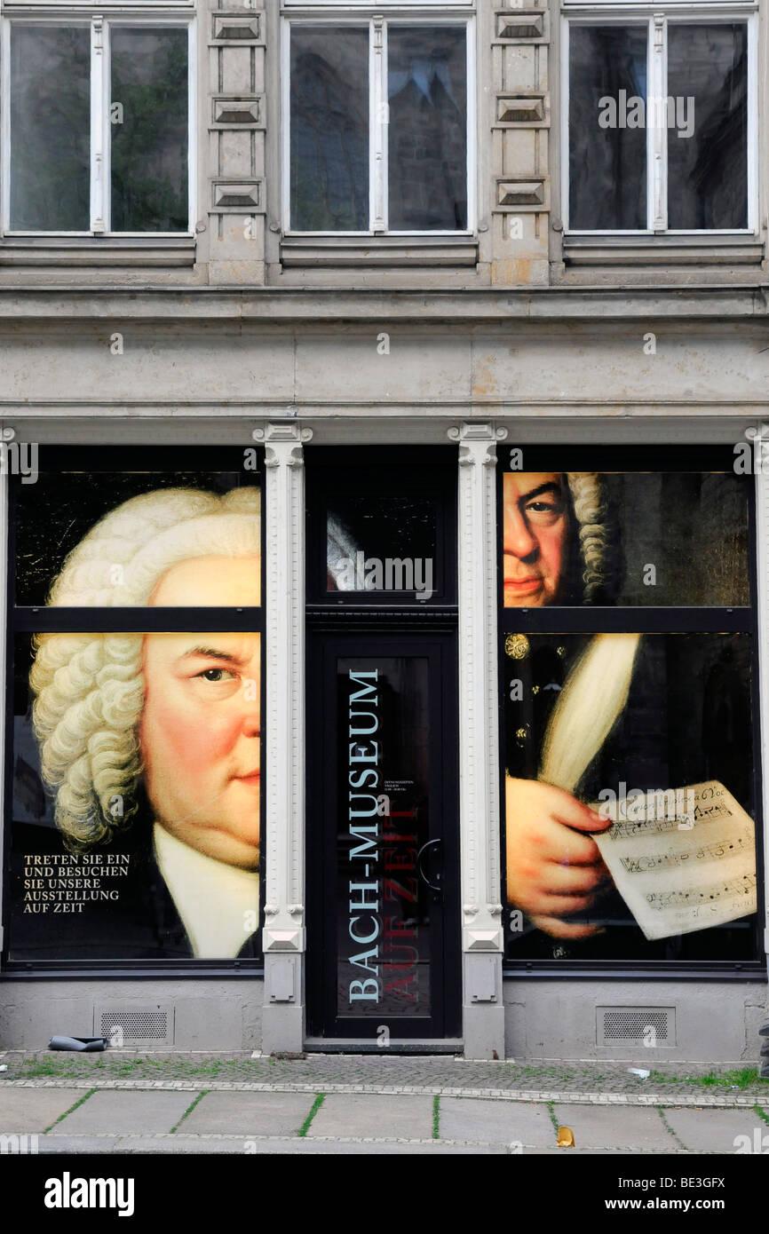 Exhibition Bach Museum, Leipzig, Saxony, Germany, Europe - Stock Image