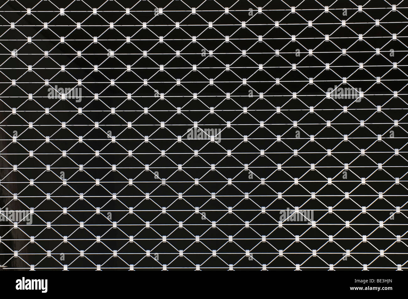 Metal rolling grilles, full-frame - Stock Image