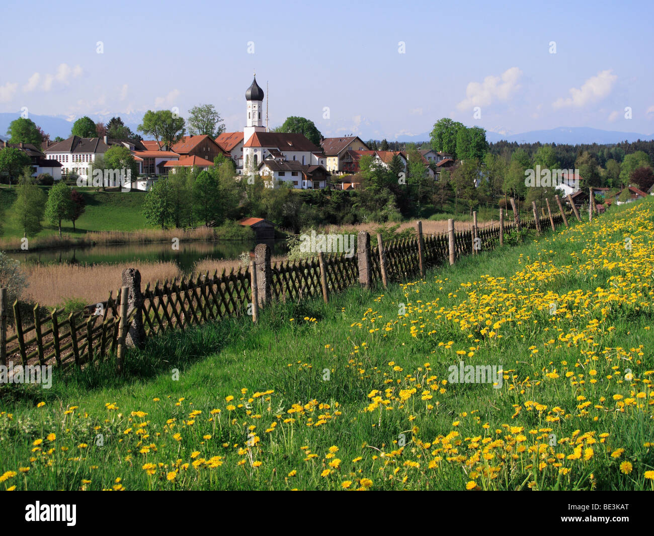 Iffeldorf, Upper Bavaria, Bavaria, Germany, Europe Stock Photo