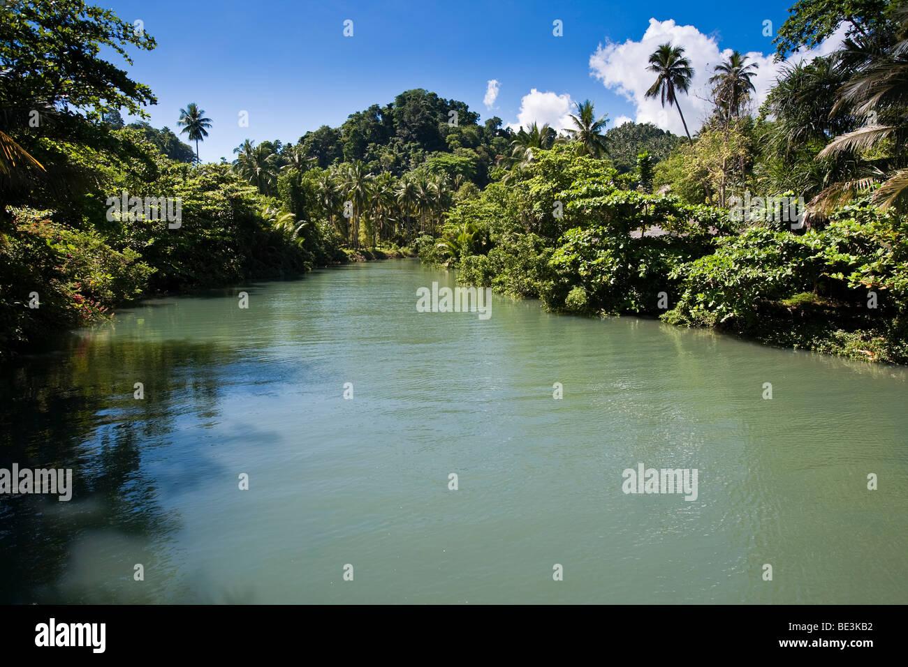 Brackish river, Sulawesi, Indonesia, Southeast Asia - Stock Image