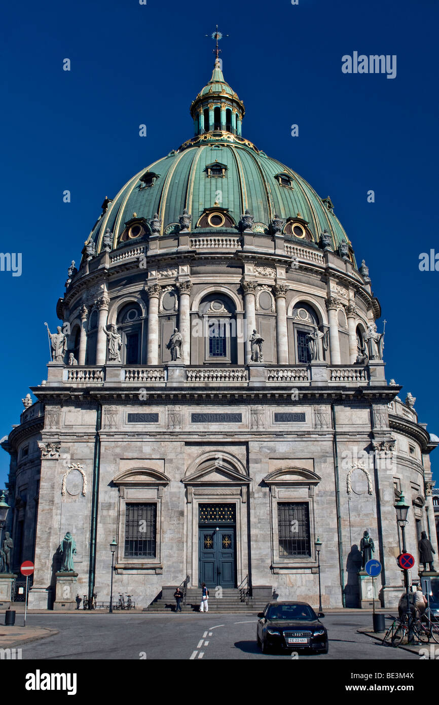 Marmorkirke church, Frederiks Kirke church, Copenhagen, Denmark, Scandinavia, Europe - Stock Image