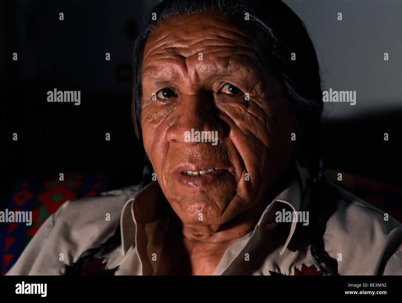 Native American, Montana, USA - Stock Image