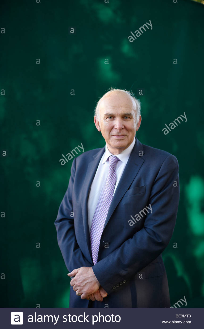 Vince Cable,former acting leader of The Liberal Democrat Party and Economic Spokesperson - Stock Image