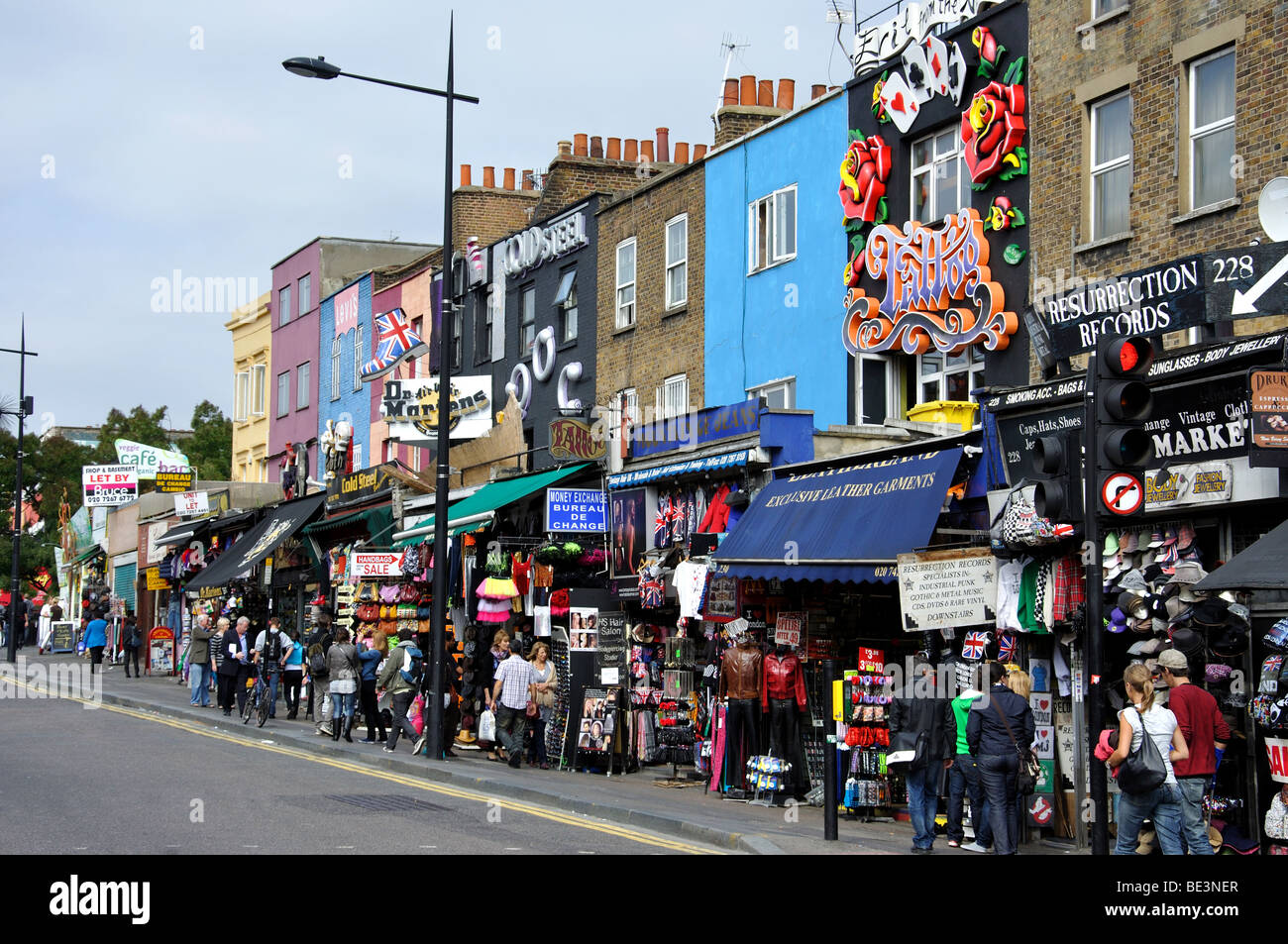 Camden High Street, Camden Town, London Borough of Camden, London, England, United Kingdom - Stock Image