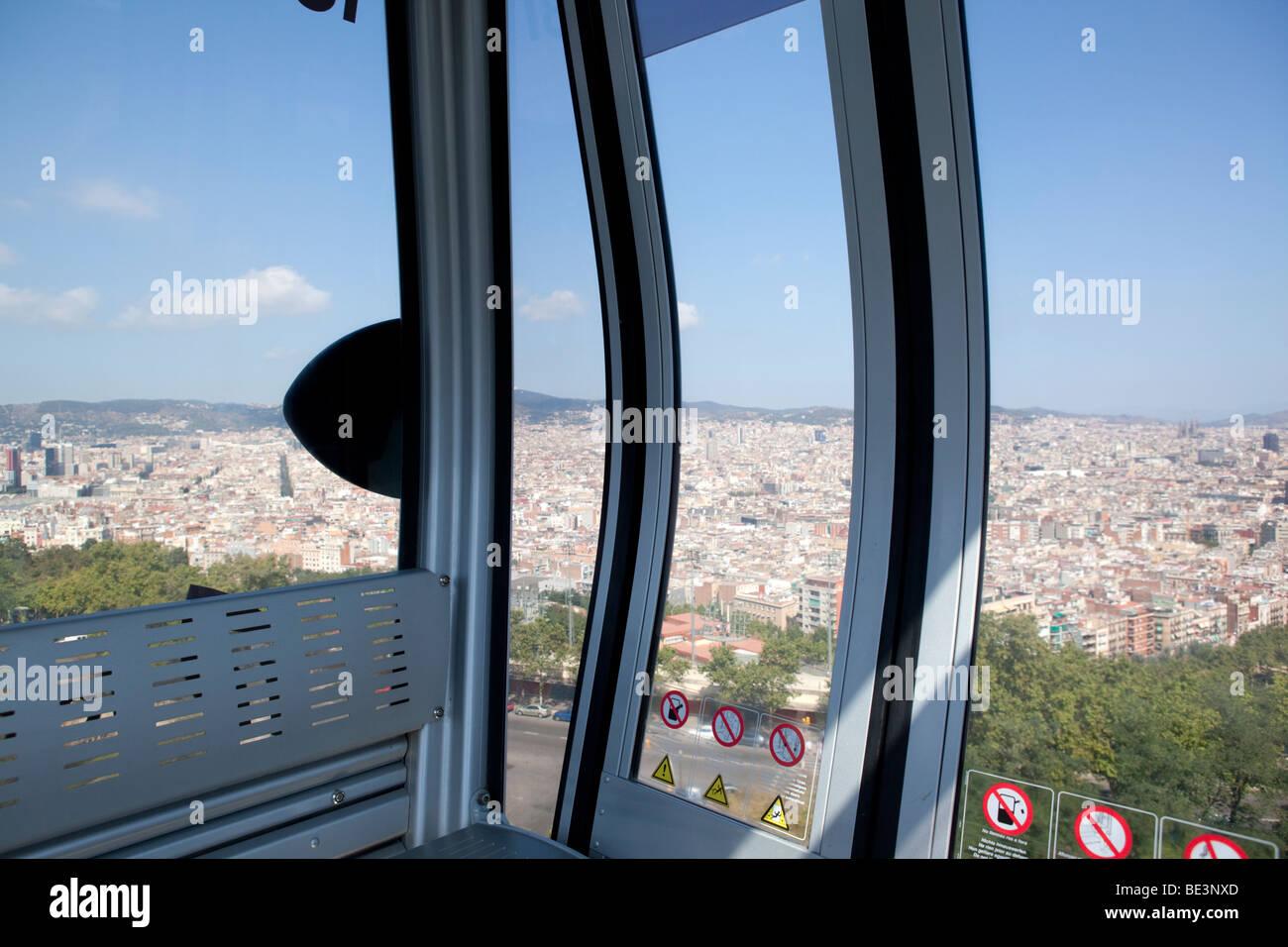 Teleferic de Montjuic, Barcelona (Spain) - Stock Image