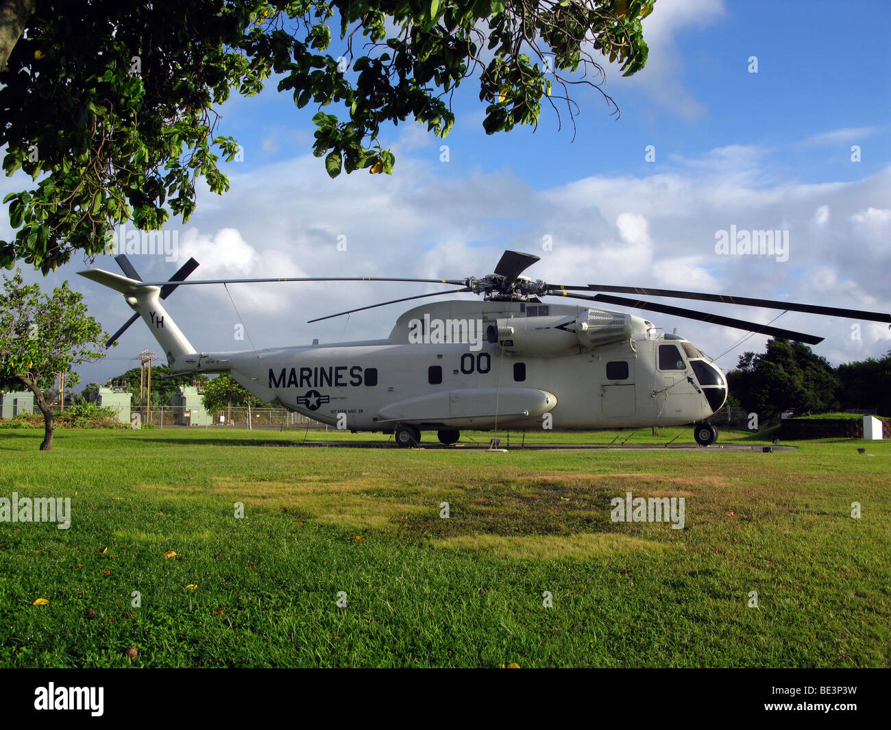 CH-53 Sea Stallion heavy lift transport helicopter on display . - Stock Image