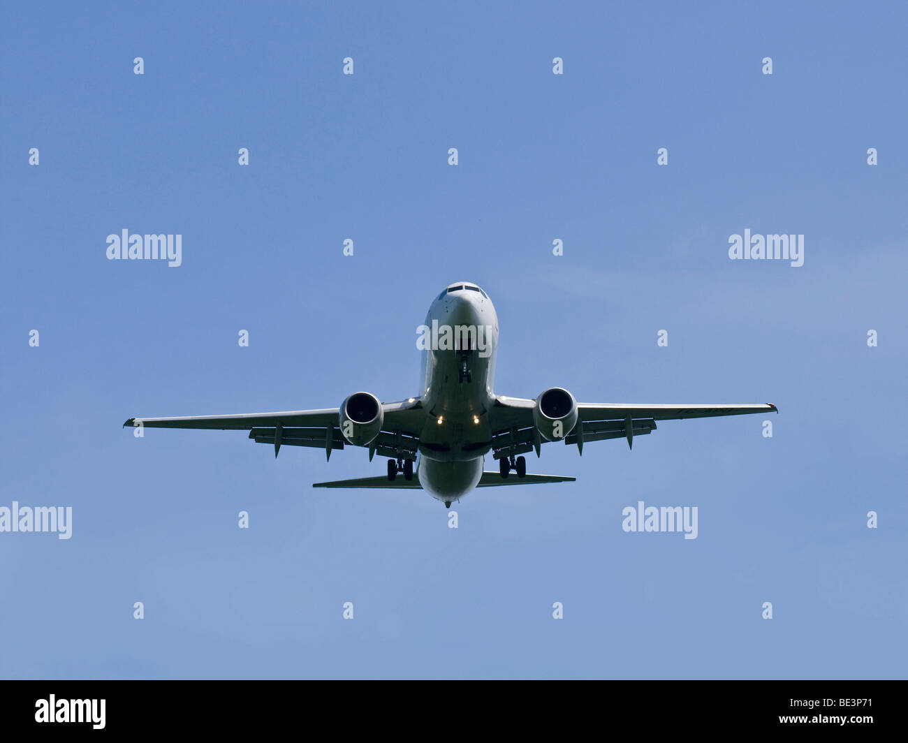 Aircraft seen from below - Stock Image