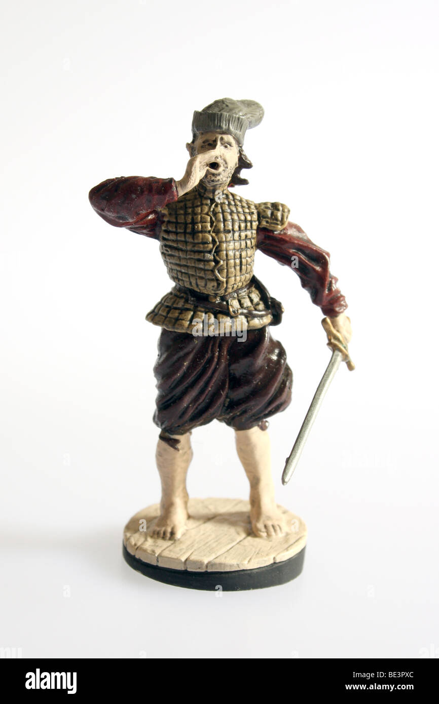 An Elizabethan Seaman, 1580. A collectible Franklin Mint soldier - Stock Image
