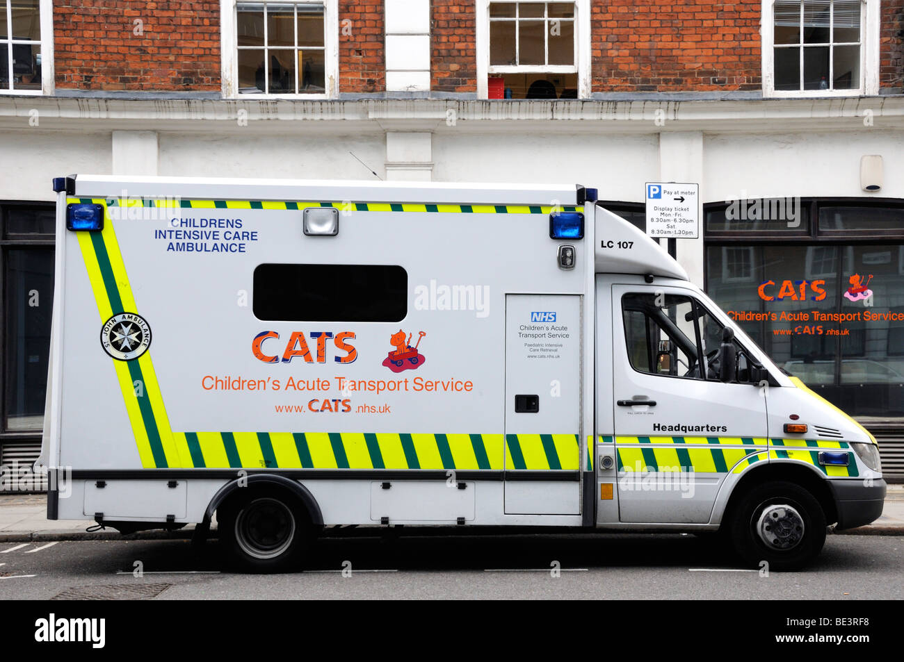 Children's Acute Transport Service outside CATS office London England UK - Stock Image