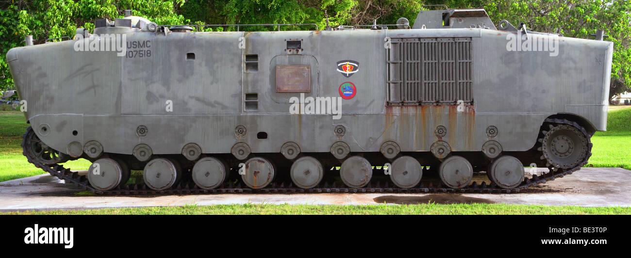 Amphibious armoured vehicle LVT-5. - Stock Image