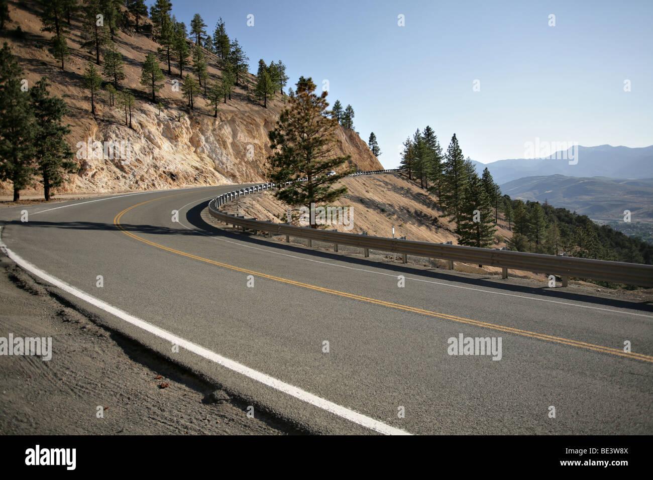 Mountain Road Above Reno Nevada That Leads To Virginia City Stock Photo Alamy