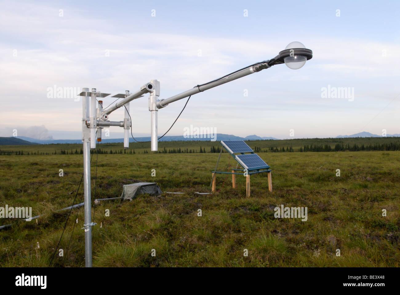 Climate change research, Alaska tundra - Stock Image