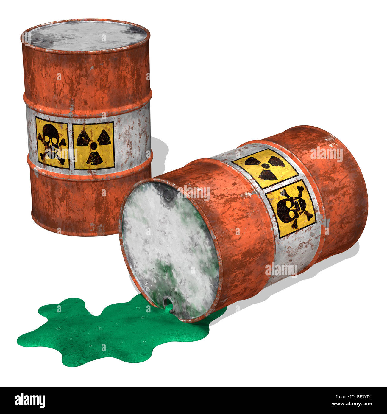 Toxic Waste Spill - Stock Image