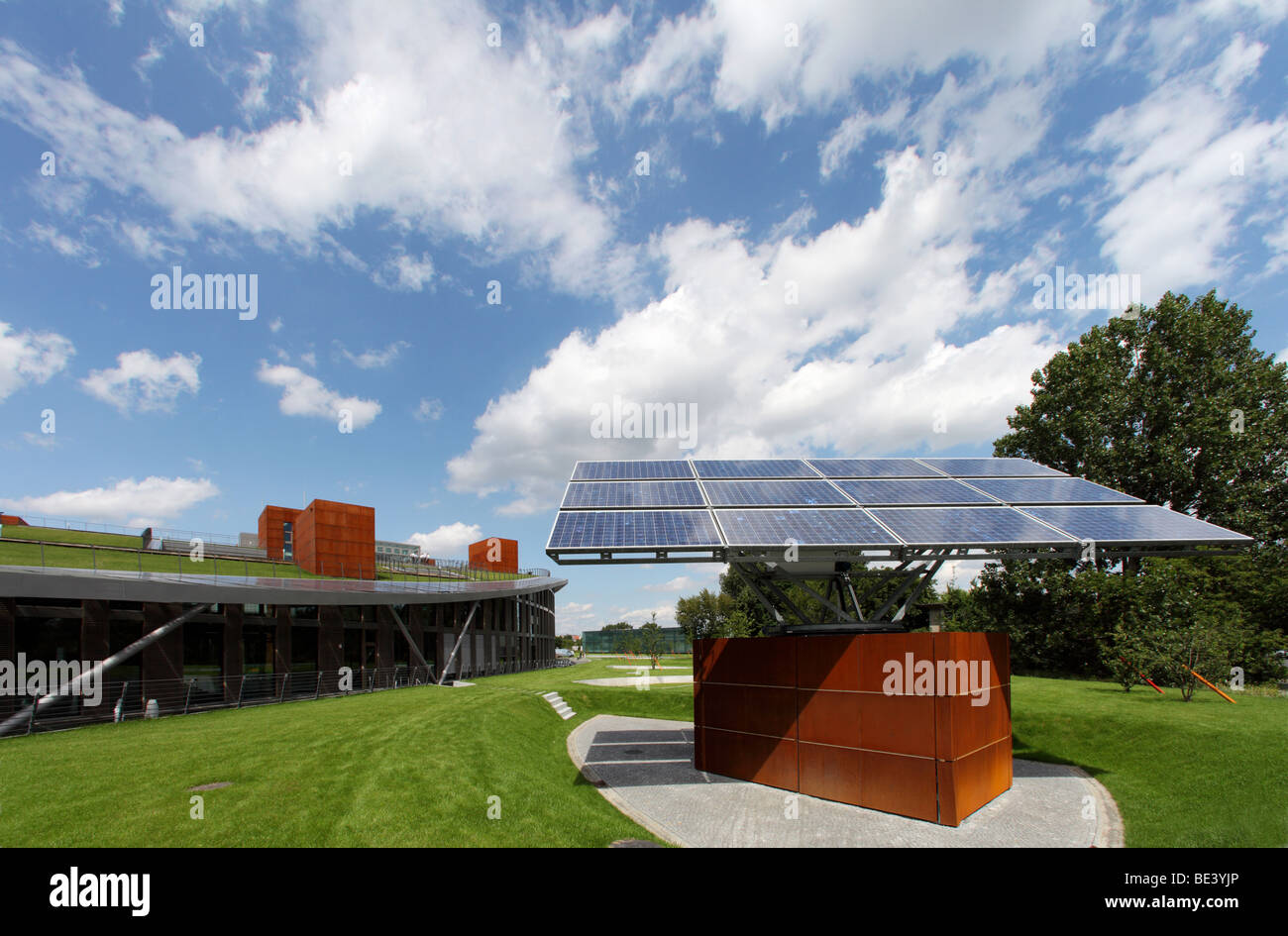 Solon SE: headquarters with modern production site in Berlin, BERLIN, GERMANY - Stock Image