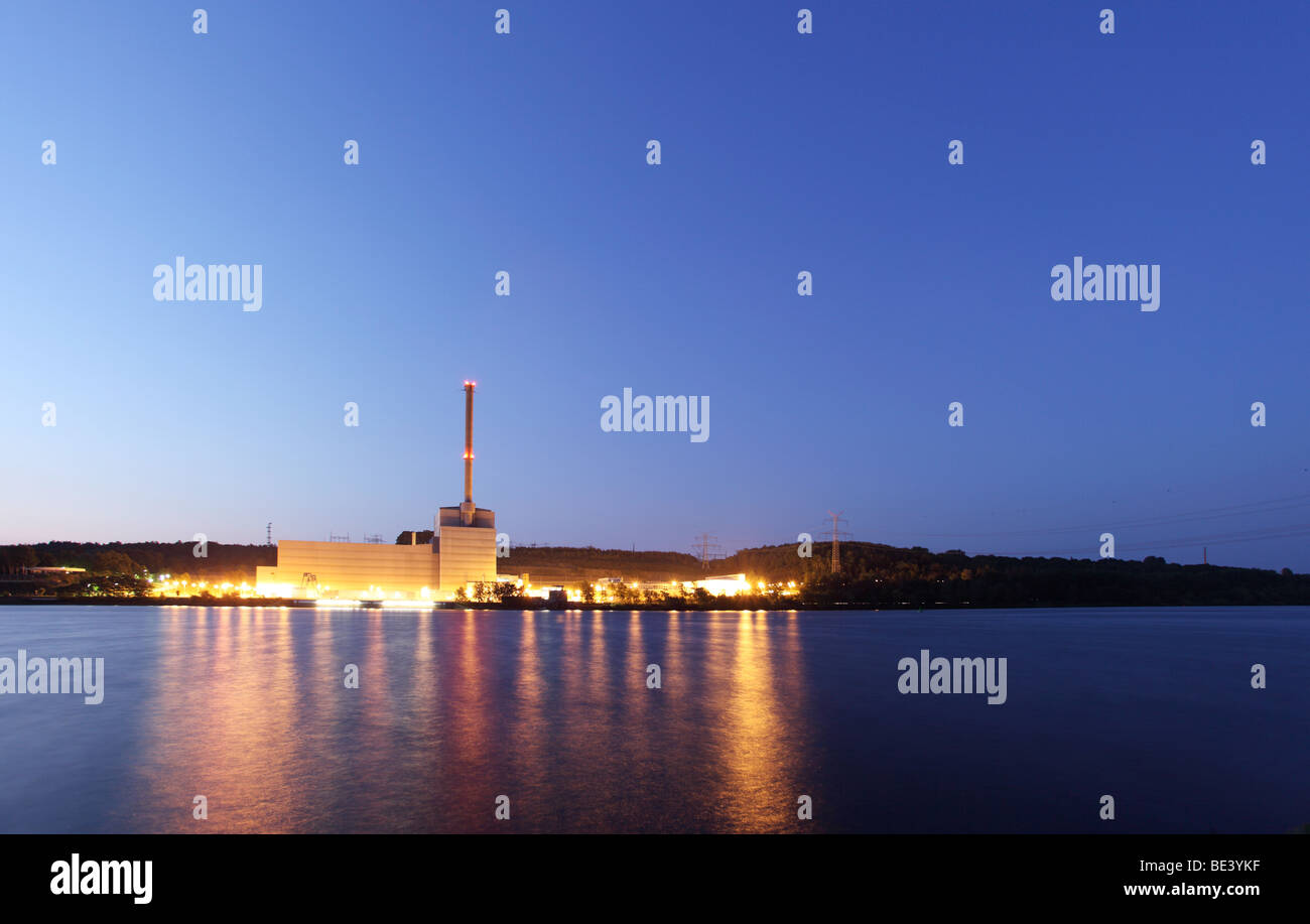 Atomic power plant Kruemmel at the river Elbe, TESPE, GERMANY. - Stock Image