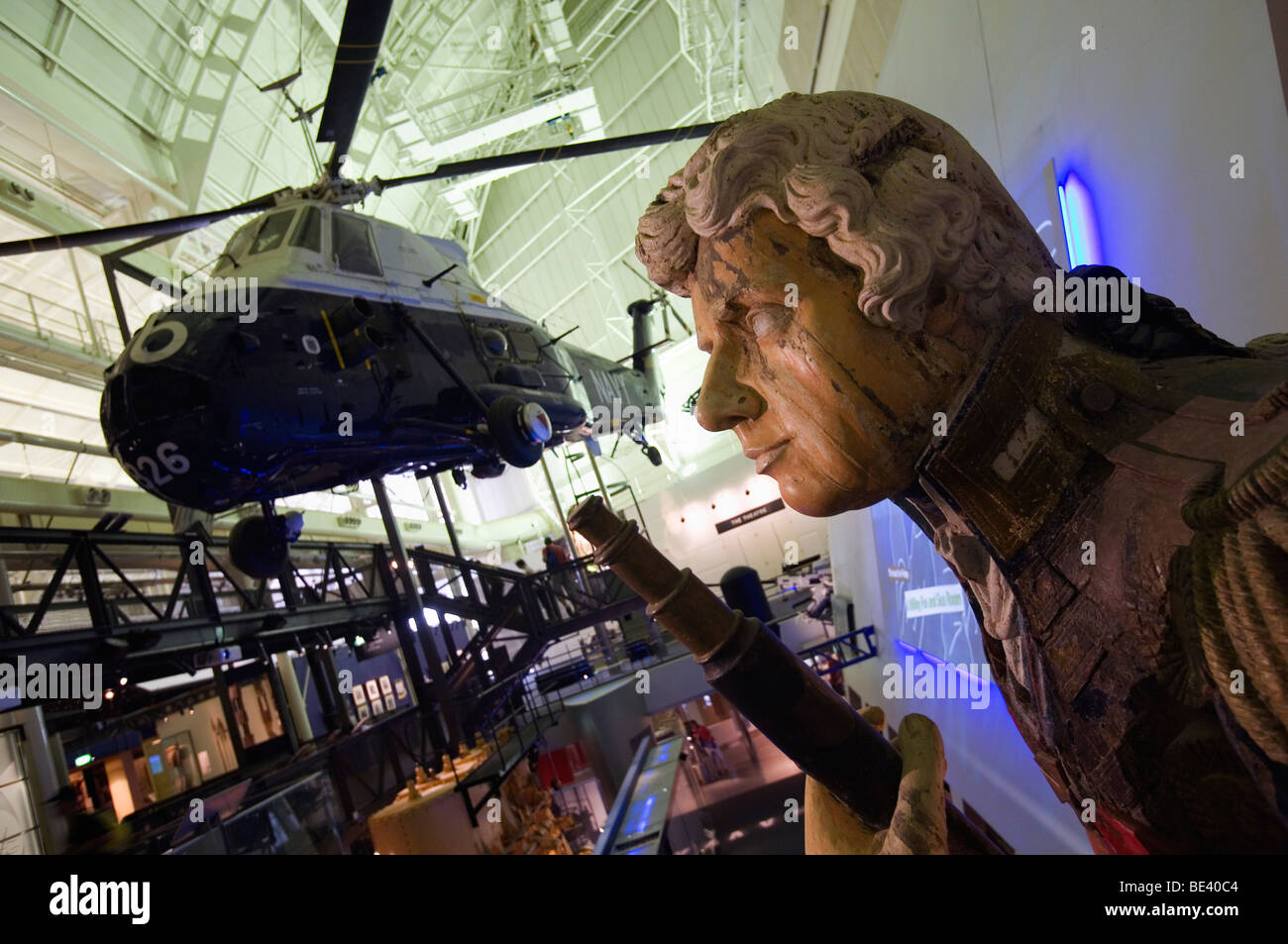 Naval history exhibition in the Australian National Maritime Musuem. Darling Harbour, Sydney, New South Wales, AUSTRALIA - Stock Image