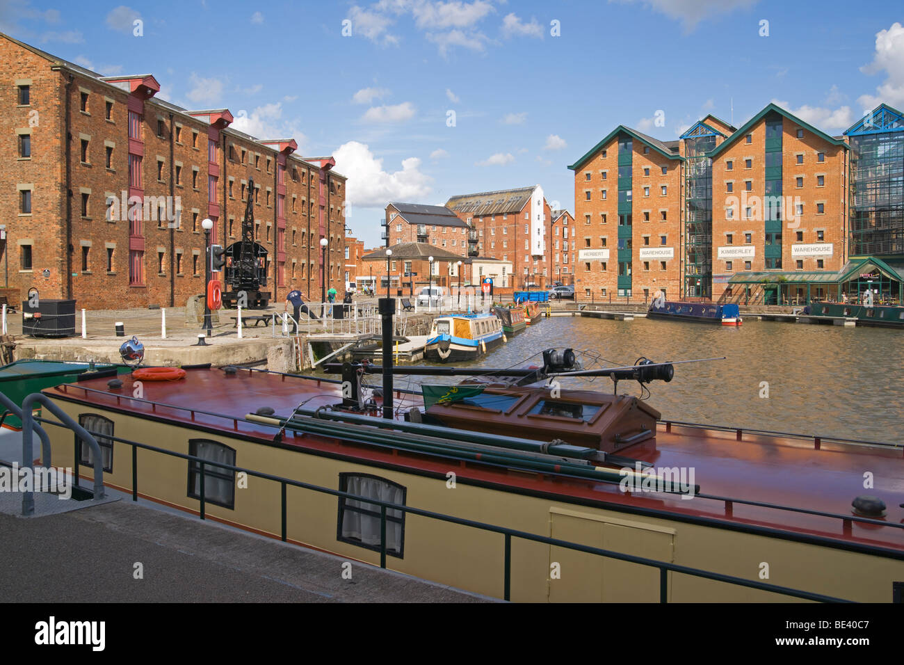 Gloucester docks, historic machinery, urban renewal, Gloucestershire, Cotswolds, England, July, 2009 - Stock Image
