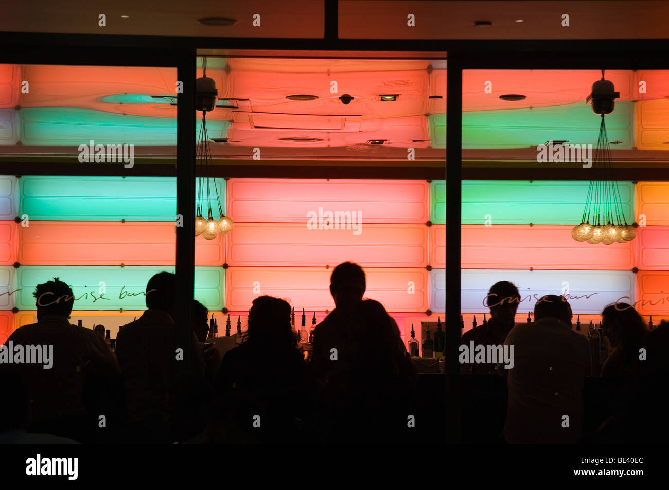 Nightlife at the Cruise Bar at West Circular Quay. The Rocks, Sydney, New South Wales, AUSTRALIA - Stock Image