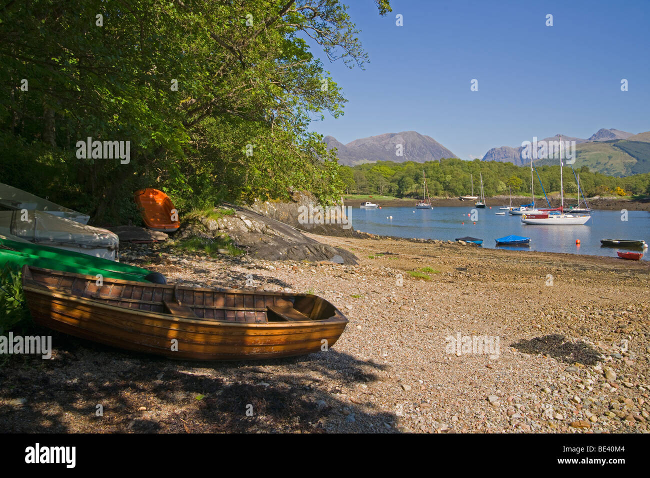 Loch Leven, Bishop's Bay, looking to Pap of Glencoe, North Ballachulish, Highland Region, Scotland, - Stock Image
