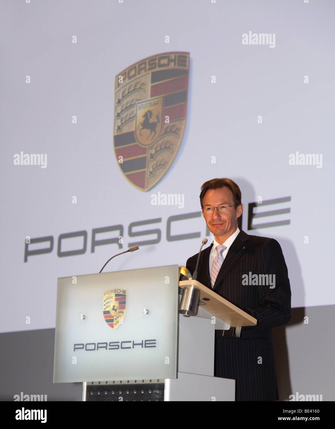 63th International Motor Show ( IAA ): Michael Macht, CEO of the Porsche SE. - Stock Image