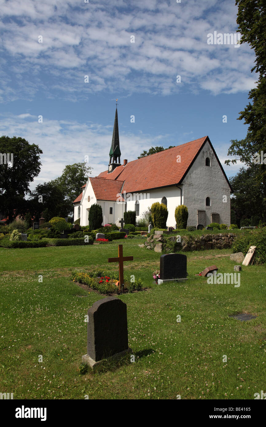 St. Wilhadi Church ULSNIS, ANGELN, SCHLESWIG-HOLSTEIN, GERMANY, EUROPE - Stock Image