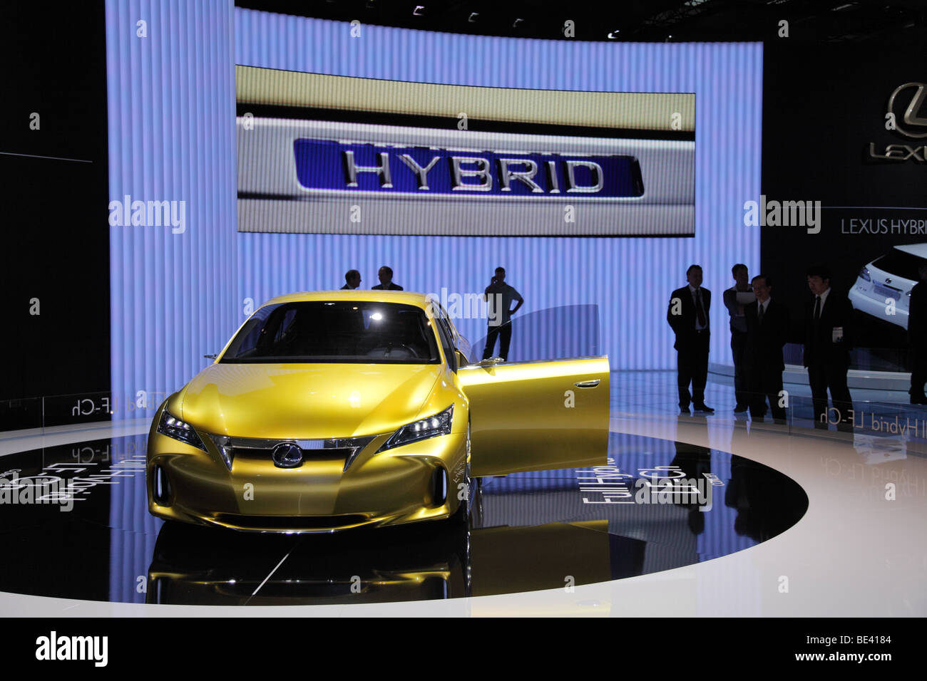 63th International Motor Show ( IAA ): Presentation of a Lexus passenger car with hybride drive - Stock Image