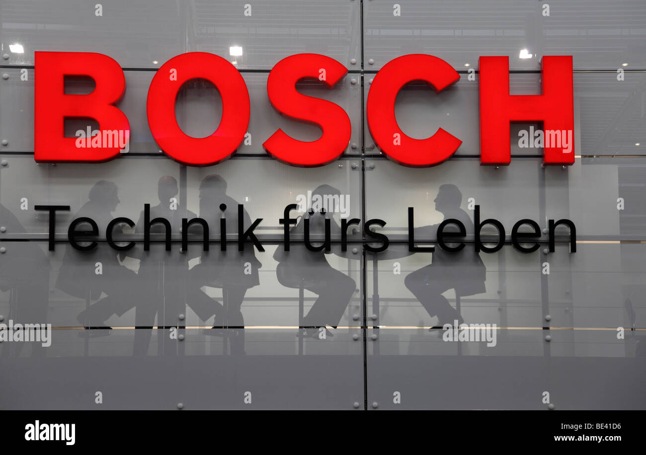 63th International Motor Show ( IAA ): stand of the company Bosch - Stock Image