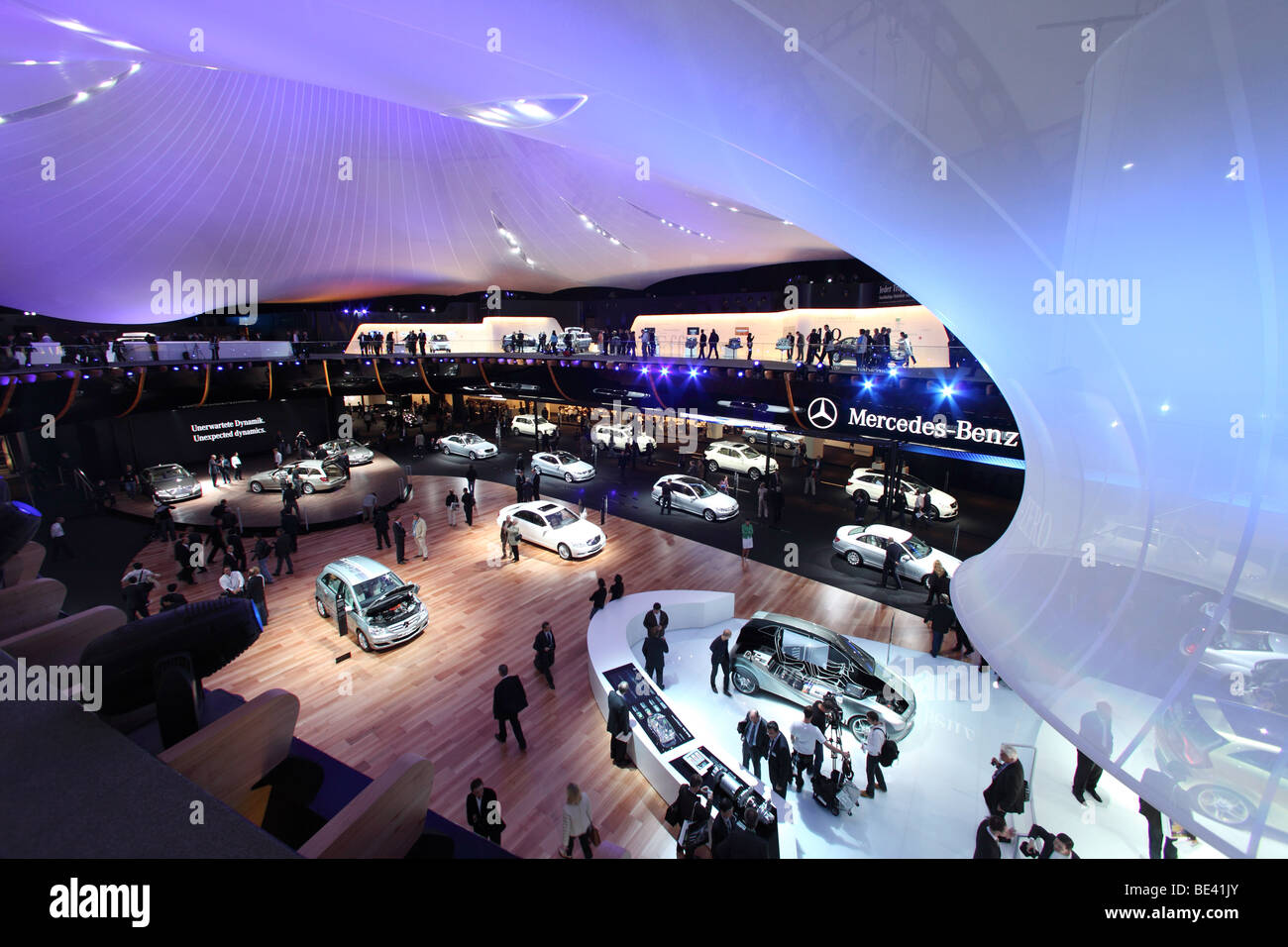 63th International Motor Show ( IAA ): Presentation of the car manufacturer Mercedes-Benz - Stock Image