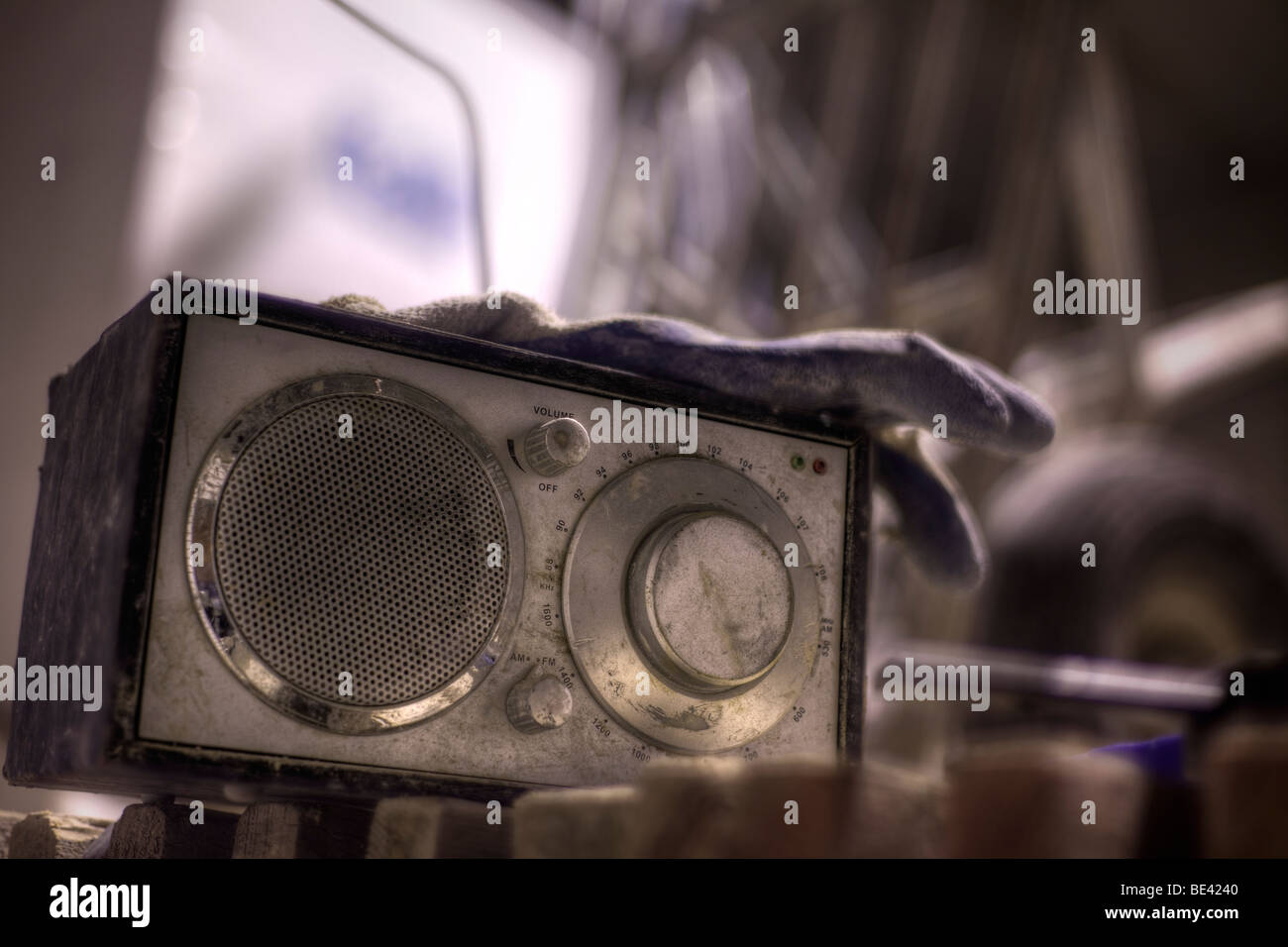 Work radio - Stock Image