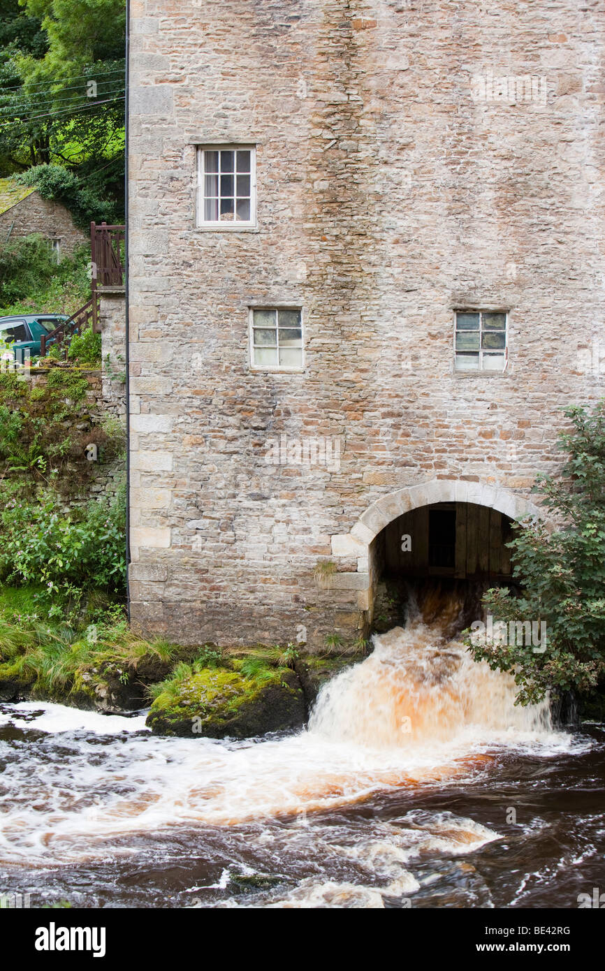 A mill building at Aysgarth Falls in the yorkshire Dales National Park, UK. - Stock Image