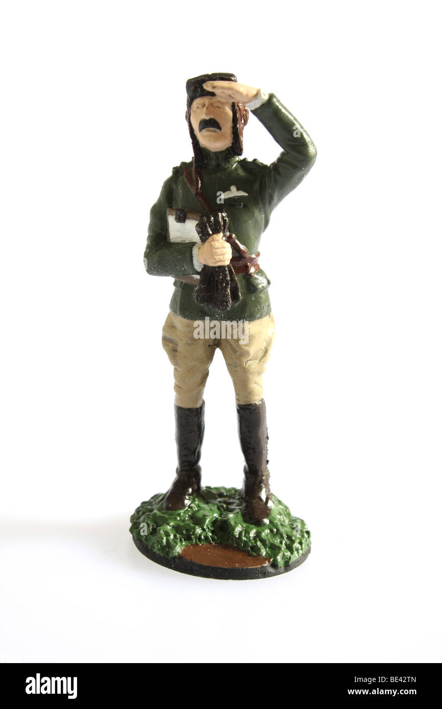 A fighter pilot with the Flying Corps The British Army. 1918. A collectible Franklin Mint soldier - Stock Image