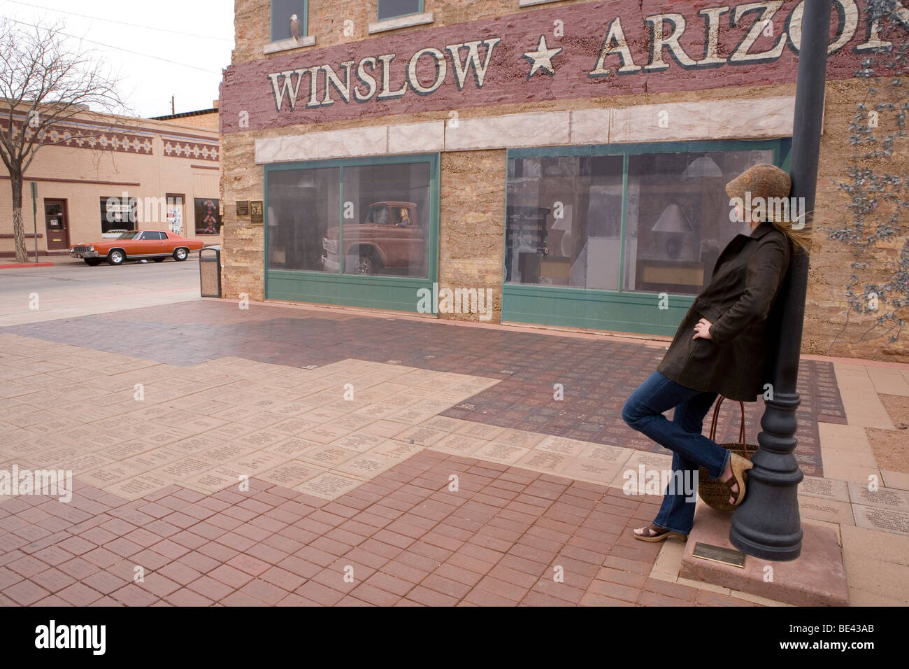 standing on the corner in winslow arizona stock photo 25906003 alamy. Black Bedroom Furniture Sets. Home Design Ideas