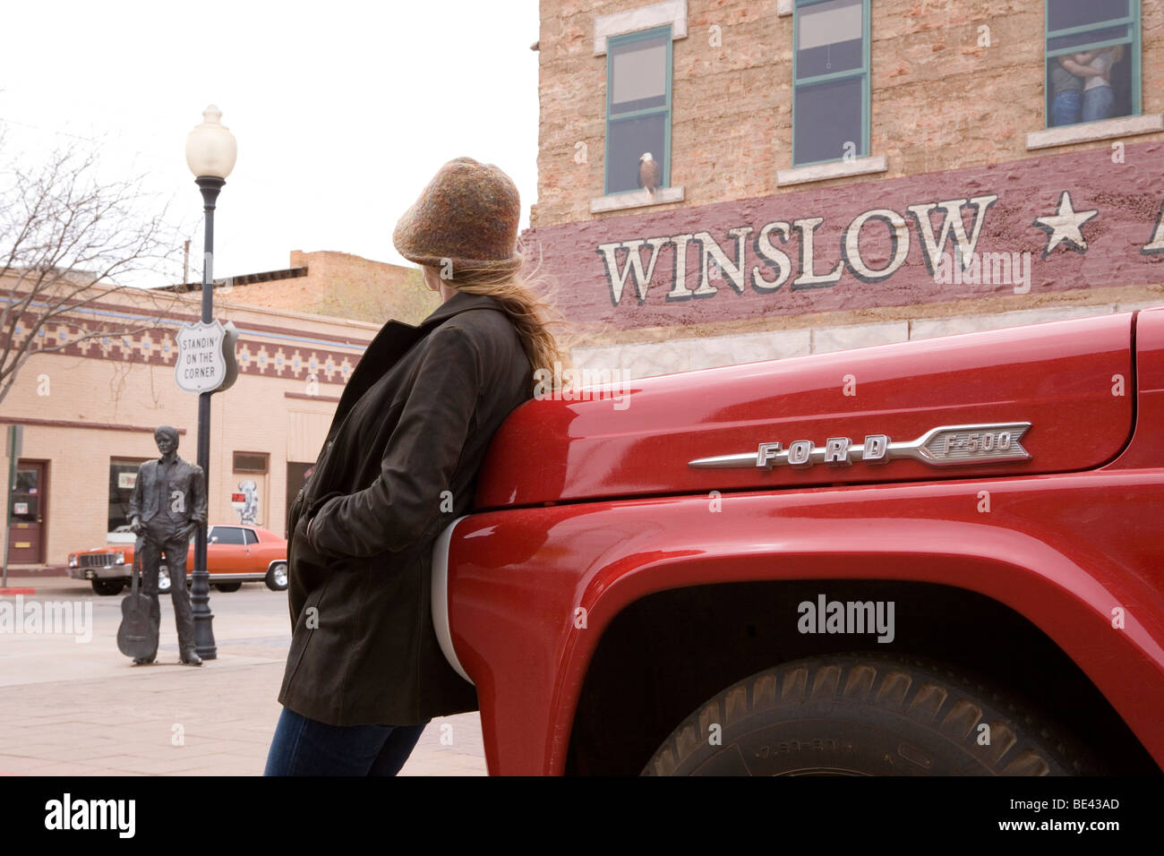 standing on the corner in winslow arizona stock photo 25906005 alamy. Black Bedroom Furniture Sets. Home Design Ideas