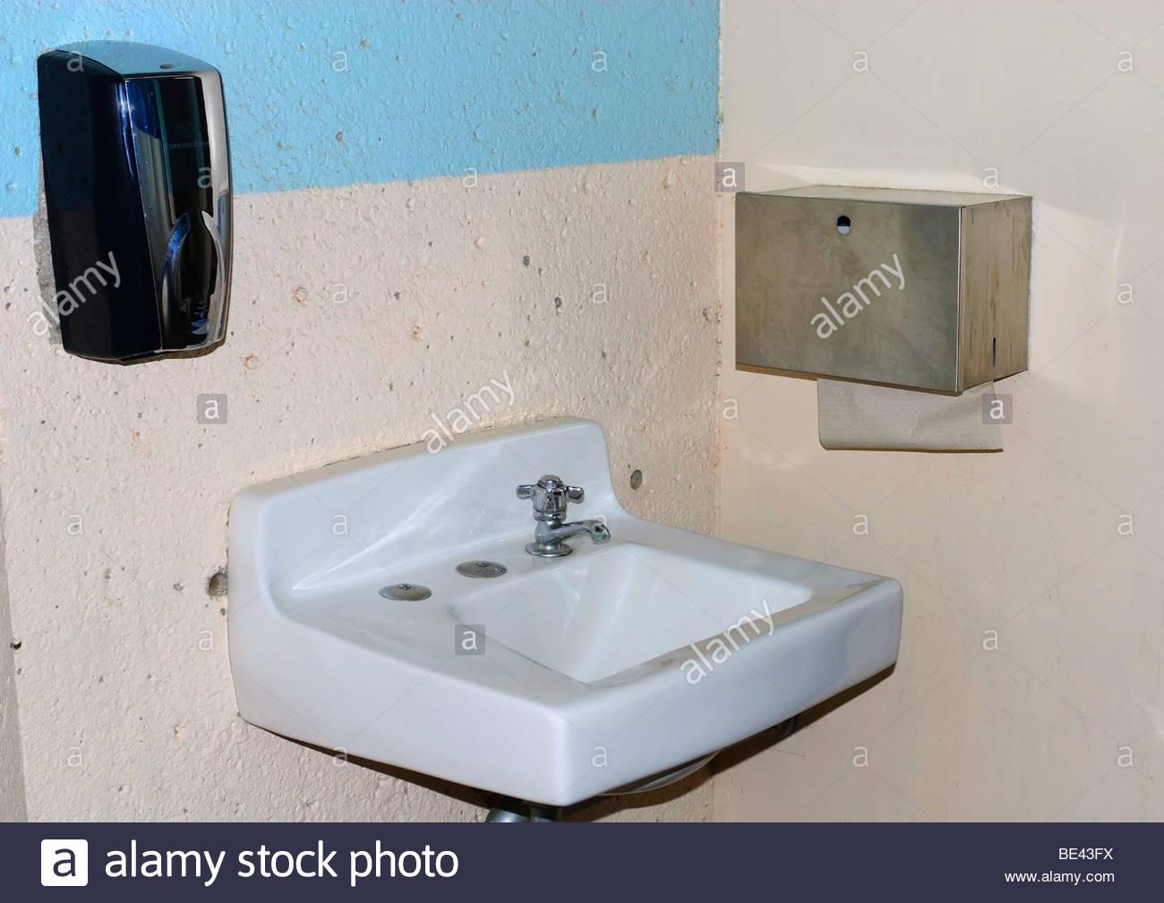 Public Toilet Sink Faucet Stock Photos Public Toilet Sink Faucet