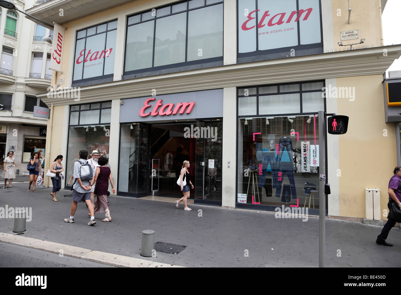 4c8701da09d exterior of etam a fashion clothing store along avenue jean medecin nice  south of france