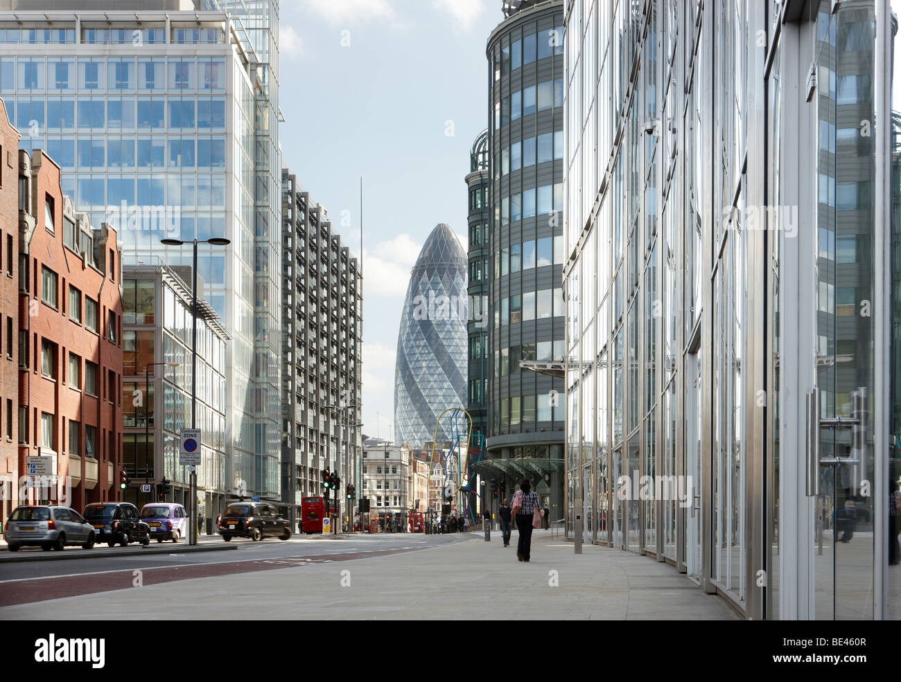 City Of London Street View Commercial Swiss Re Tower