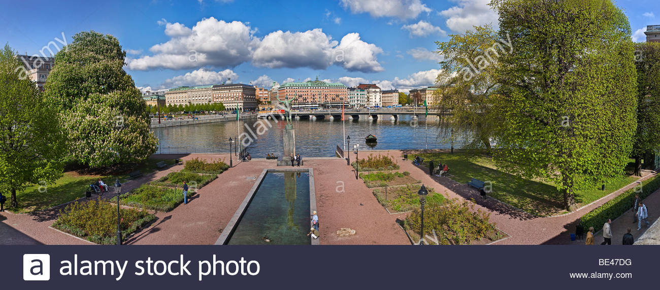 Buildings in a city, Norrbro, Stockholm, Sweden Stock Photo
